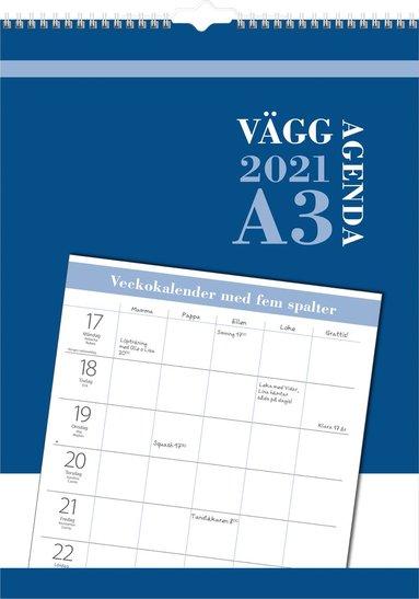 Väggkalender 2021 Väggagenda A3 1