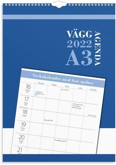 Väggkalender 2022 Väggagenda A3