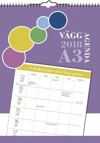 Väggkalender 2018 Väggagenda A3 1