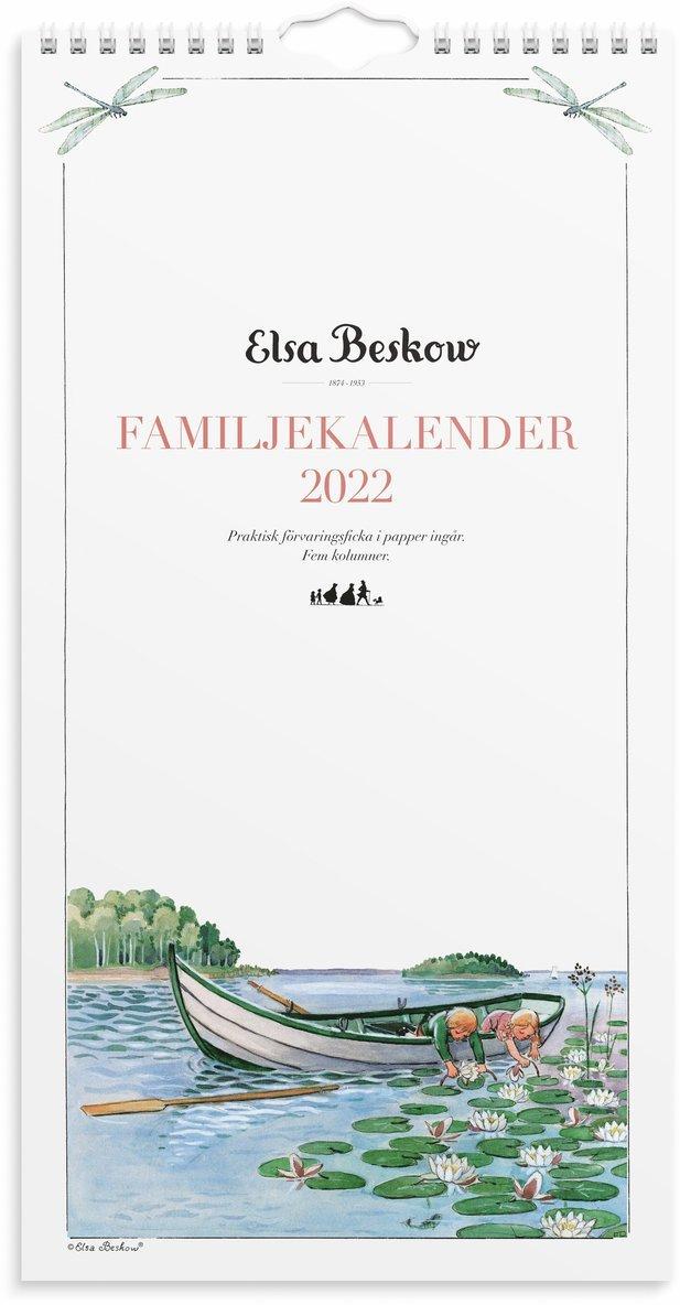 Väggkalender 2022 Familjekalender Elsa Beskow 1