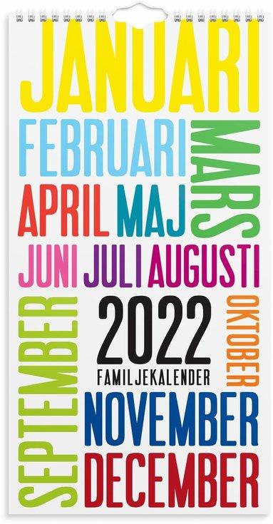 Väggkalender 2022 Familjekalender TrendArt