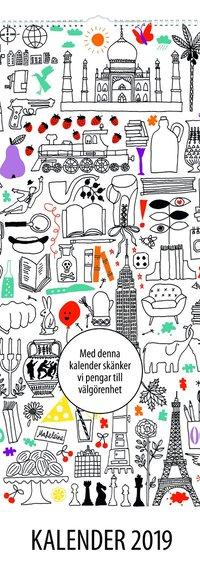 Väggkalender 2019 Akademibokhandelns vänner