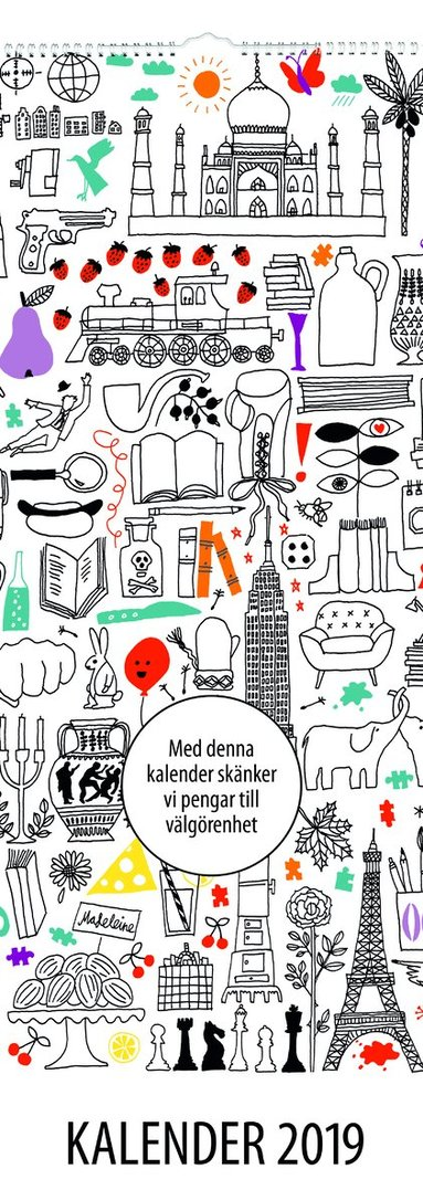 Väggkalender 2019 Akademibokhandelns vänner 1