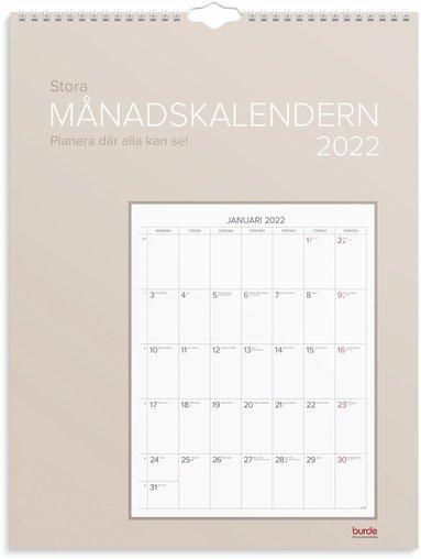 Väggkalender 2022 Stora Månadskalendern