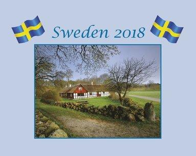 Väggkalender 2018 Sweden med kuvert 1