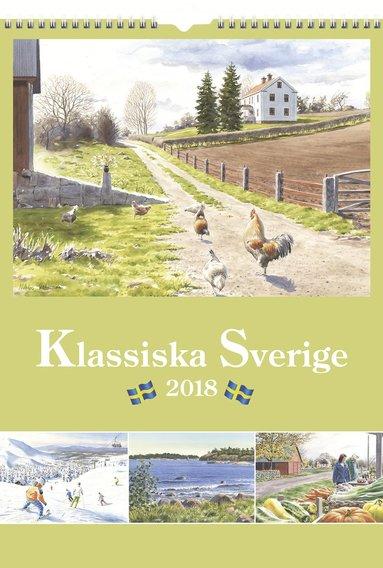 Väggkalender 2018 Klassiska Sverige 1