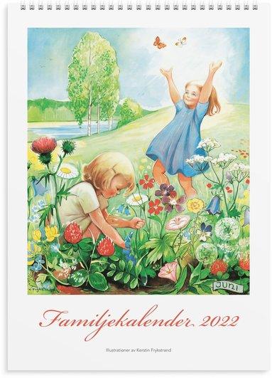 Väggkalender 2022 Familjekalender Kerstin Frykstrand