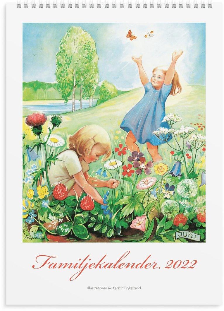 Väggkalender 2022 Familjekalender Kerstin Frykstrand 1