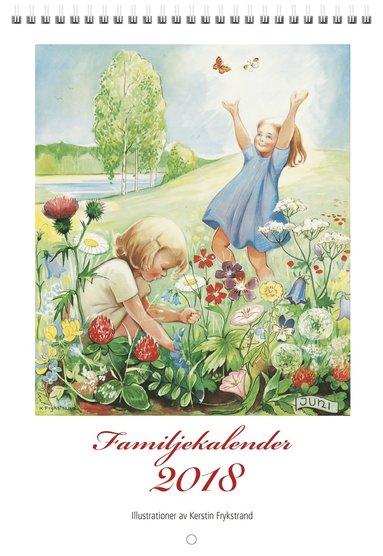 Väggkalender 2018 Familjekalender Kerstin Frykstrand 1