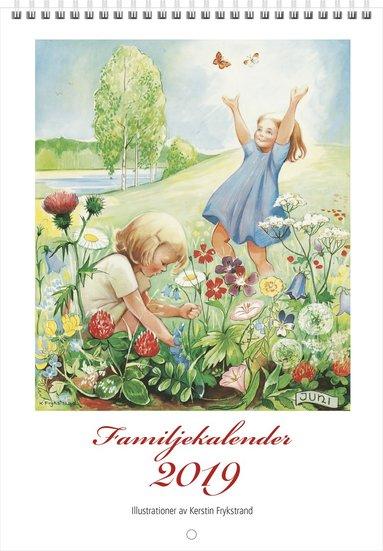 Väggkalender 2019 Familjekalender Kerstin Frykstrand 1