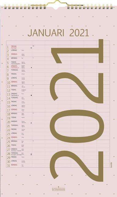 Väggkalender 2021 Familjekalender Color 1
