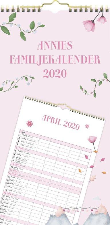 Väggkalender 2020 Annies Familjekalendern 1