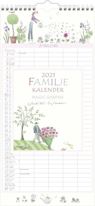 Väggkalender 2021 Familjekalender Magic Garden 1