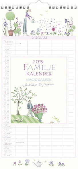 Väggkalender 2019 Familjekalender Magic Garden