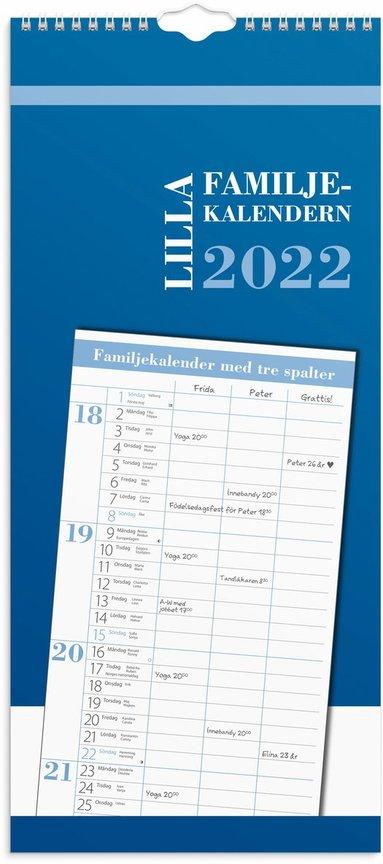 Väggkalender 2022 Lilla Familjekalendern