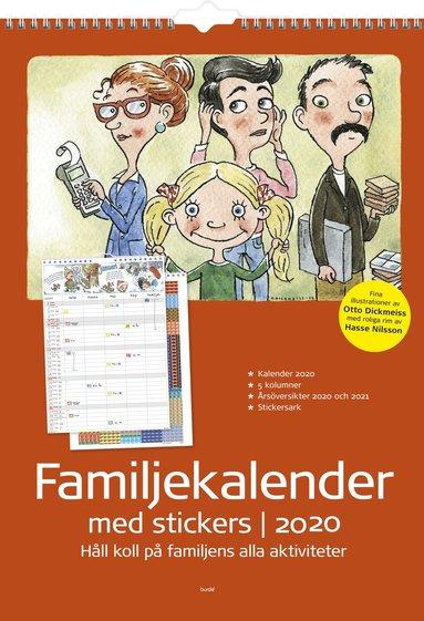 Väggkalender 2020 Familjekalender m stickers 1