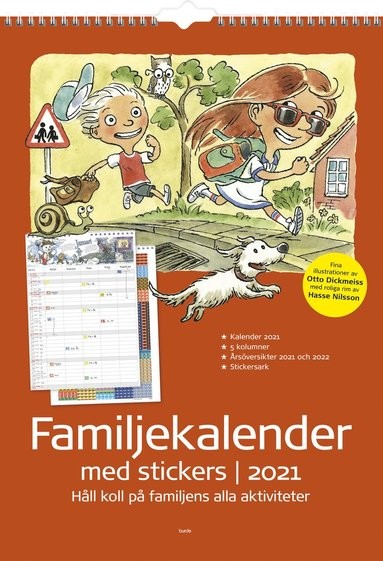 Väggkalender 2021 Familjekalender med stickers 1