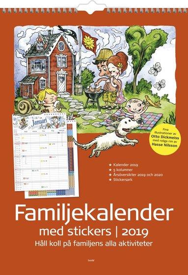 Väggkalender 2019 Familjekalender m stickers 1