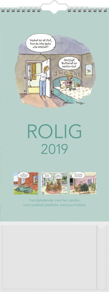 Väggkalender 2019 Familjekalender Rolig 1