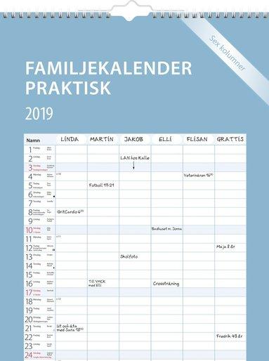 Väggkalender 2019 Familjekalender Praktisk 1