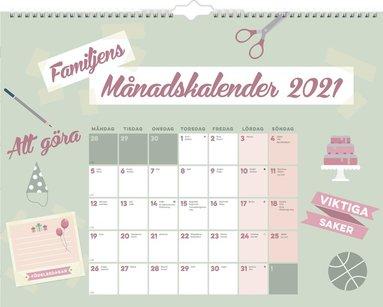Väggkalender 2021 Familjens månadskalender 1