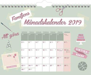 Väggkalender 2019 Familjens månadskalender 1