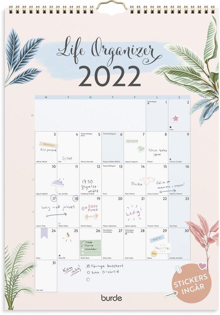Väggkalender 2022 Life Organizer 1