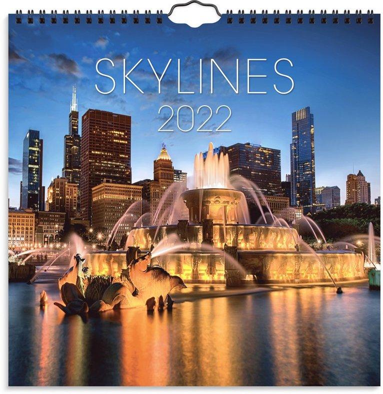 Väggkalender 2022 Skylines 1