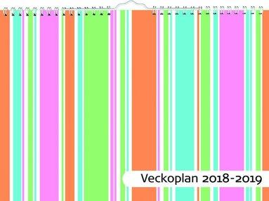 Väggkalender 18-19 Veckoplan 1