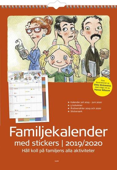 Väggkalender 2019-2020 Familjekalender med stickers 1