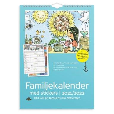 Väggkalender 2021-2022 Stickers familj 1