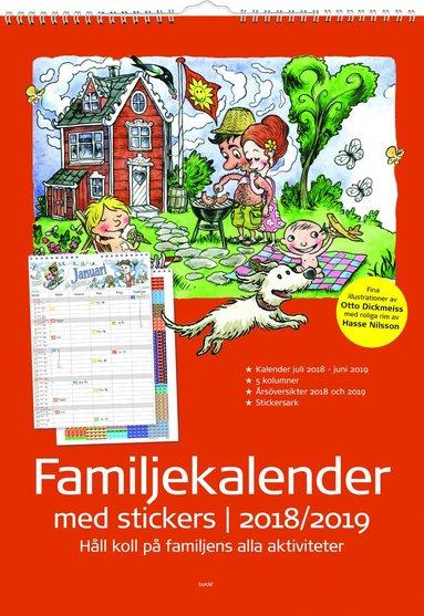 Väggkalender 18-19 Familjekalender med stickers 1