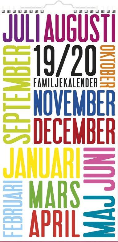 Väggkalender 2019-2020 Familjekalender TrendArt 1