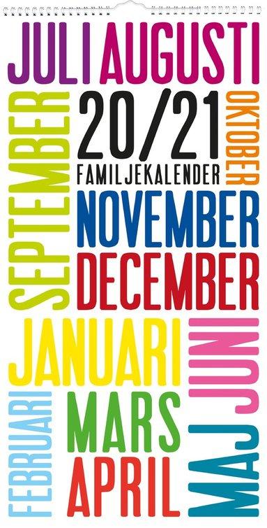 Väggkalender 2020-2021 Familjekalender TrendArt 1