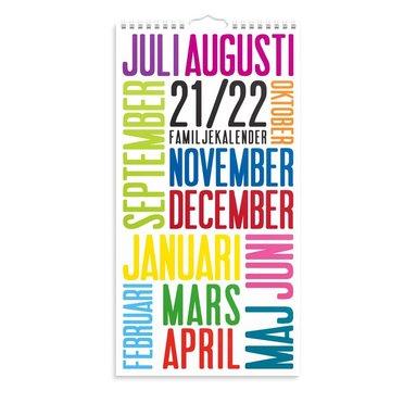 Väggkalender 2021-2022 TrendArt familj 1