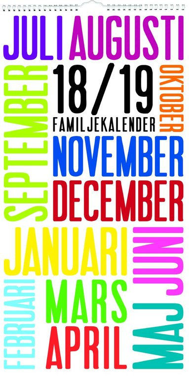 Väggkalender 18-19 Familjekalender TrendArt 1