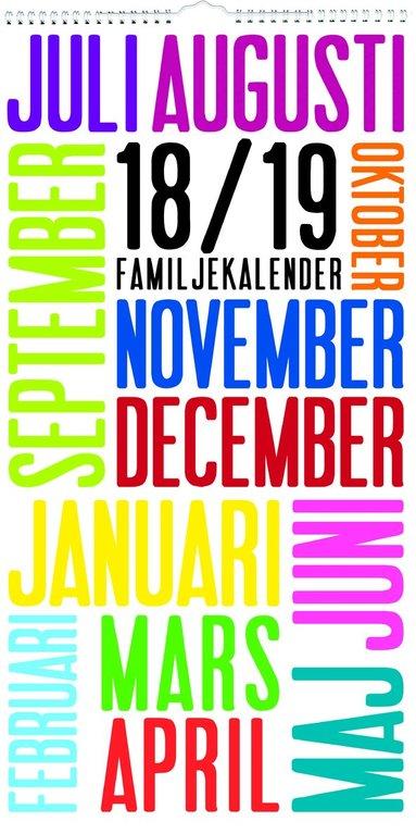 Väggkalender 18-19 Familjekalender TrendArt