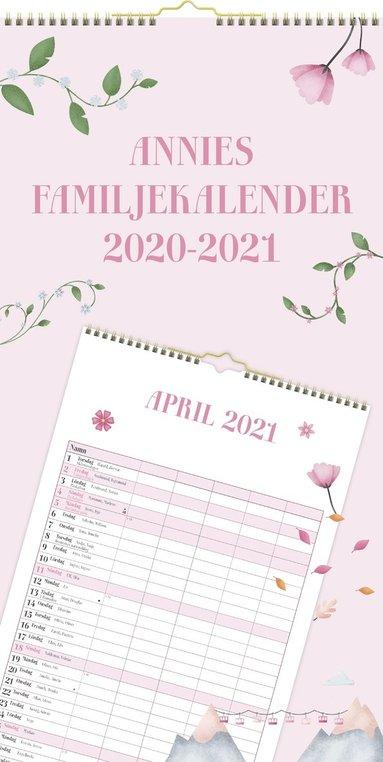 Väggkalender 2020-2021 Familjekalender Fritid 1