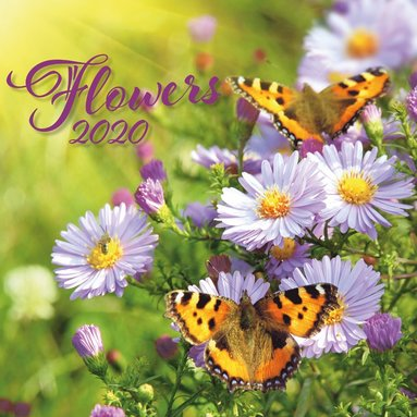 Väggkalender 2020 30x30cm Flowers 1