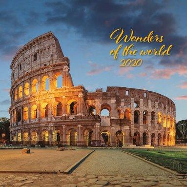 Väggkalender 2020 30x30cm Wonders of the world 1