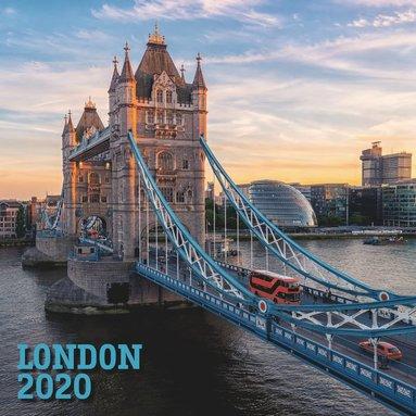 Väggkalender 2020 30x30cm London 1