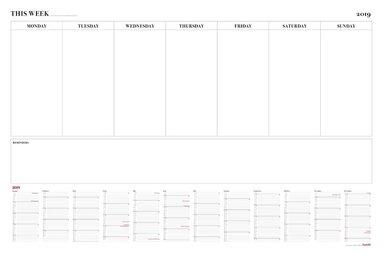 Väggblad 2019 Weekly planner whiteboard 1