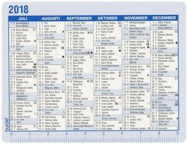 Kalender 2018 Kalenderkort