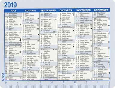 Kalenderkort 2019