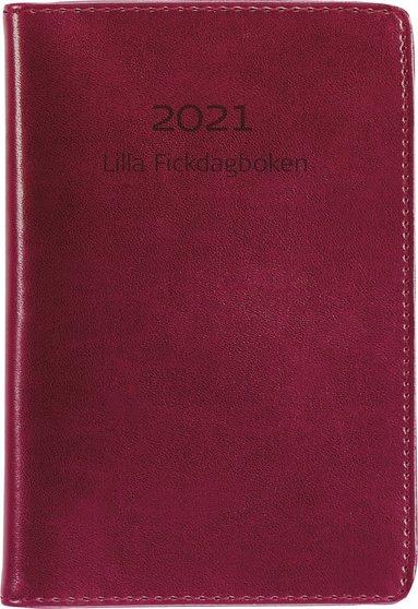 Kalender 2021 Lilla Fickdagboken konstläder röd 1