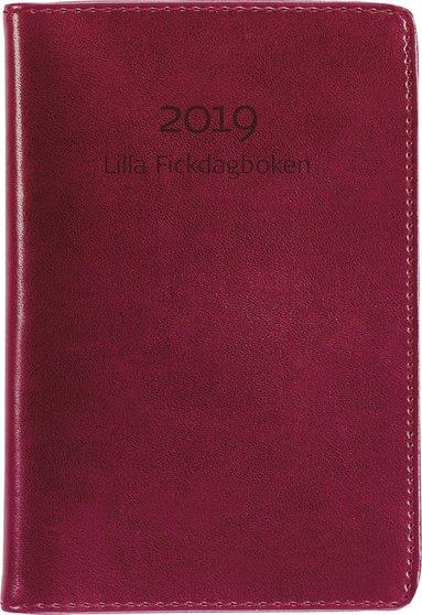 Kalender 2019 Lilla Fickdagboken konstläder röd 1