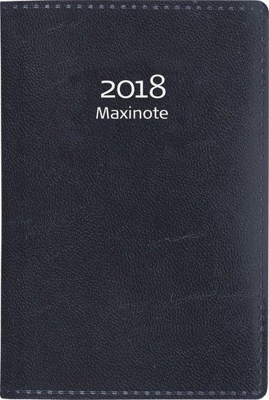 Kalender 2018 Maxinote konstläder svart 1