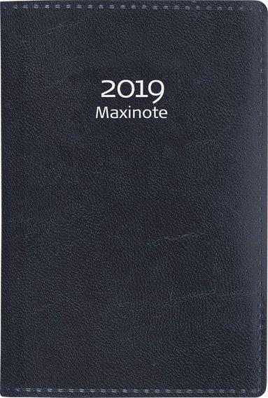 Kalender 2019 Maxinote konstläder svart 1