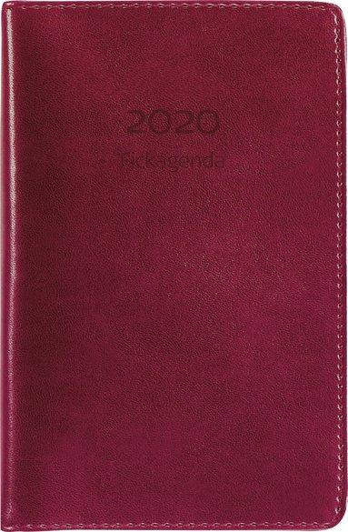 Kalender 2020 Fickagenda konstläder röd 1