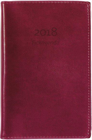 Kalender 2018 Fickagenda konstläder röd 1